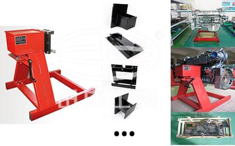 翻转架采用高强度国际钢型号,材质,并采用框架式结构;双轴承座支撑,承